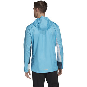 adidas OWN The Run Jacket Men signal cyan/white/legacy blue